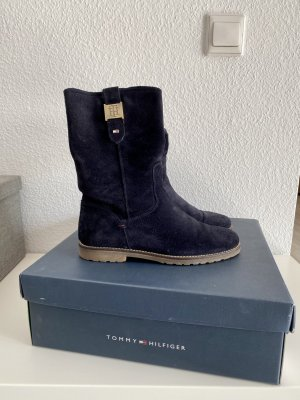 Tommy Hilfiger Winter boots donkerblauw Leer
