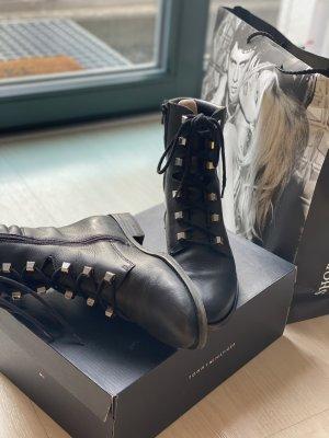 Tommy Hilfiger Stiefeletten schwarz Biker Boots