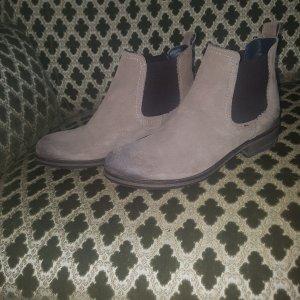 Tommy Hilfiger Botines estilo vaquero marrón grisáceo