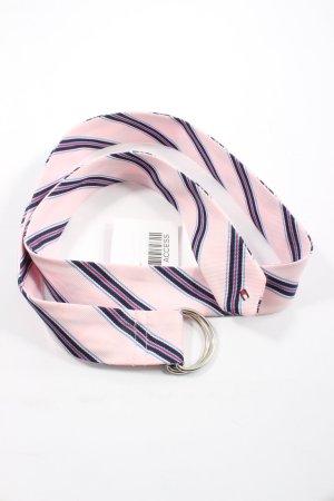 Tommy Hilfiger Cinturón de tela estampado a rayas look casual