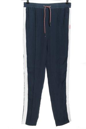 Tommy Hilfiger Pantalon en jersey bleu motif rayé style décontracté