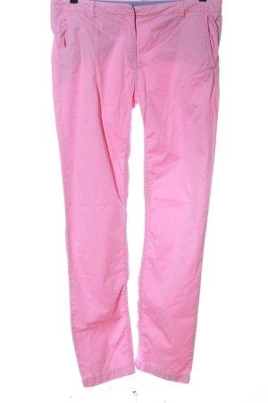 Tommy Hilfiger Stoffhose pink Schriftzug gestickt Casual-Look