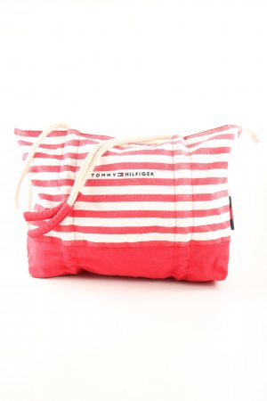 Tommy Hilfiger Stoffen tas rood-wit gedrukte letters casual uitstraling
