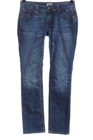 Tommy Hilfiger Straight-Leg Jeans blau Street-Fashion-Look