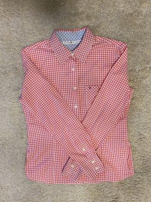 Tommy Hilfiger Stretch Hemd rosa/weiß kariert - Gr.36