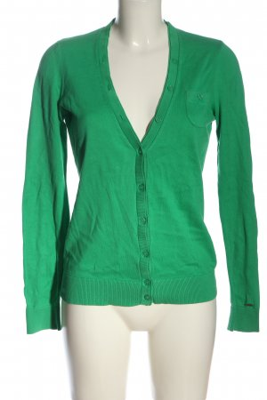Tommy Hilfiger Strick Cardigan grün Casual-Look