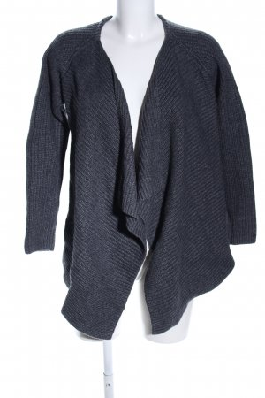 Tommy Hilfiger Strick Cardigan hellgrau Zopfmuster Business-Look