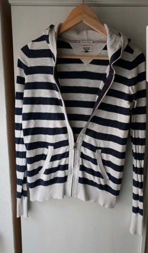 Tommy Hilfiger Gebreide jurk wit-donkerblauw Katoen