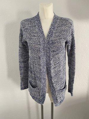 Tommy Hilfiger Veste en tricot bleu foncé-blanc