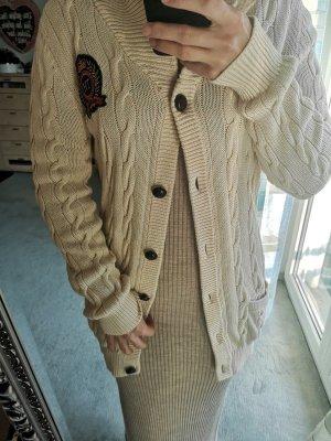 Tommy Hilfiger Cappotto a maglia beige chiaro