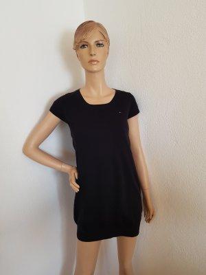 Tommy Hilfiger Denim Wollen jurk zwart