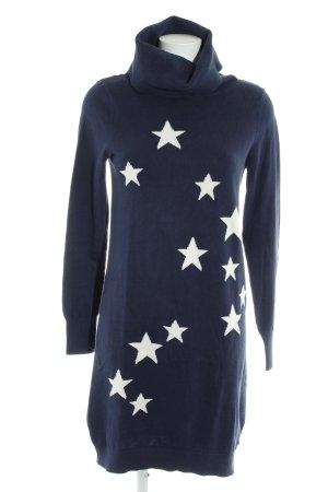 Tommy Hilfiger Strickkleid dunkelblau-weiß Sternenmuster Casual-Look