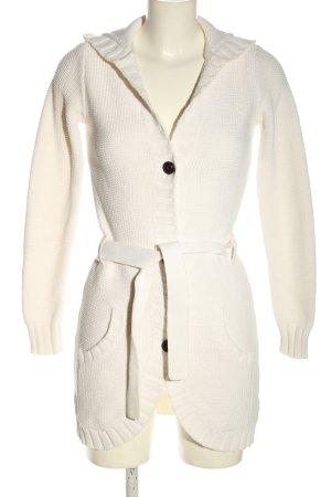 Tommy Hilfiger Gebreide jas wit casual uitstraling