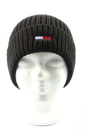Tommy Hilfiger Chapeau en tricot torsades style décontracté