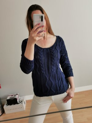 Tommy Hilfiger Coarse Knitted Sweater blue