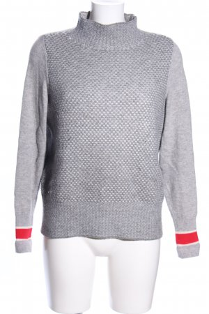 Tommy Hilfiger Strickpullover hellgrau-rot Allover-Druck Casual-Look