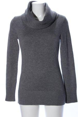 Tommy Hilfiger Pull tricoté gris clair moucheté style décontracté