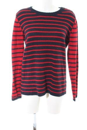 Tommy Hilfiger Maglione lavorato a maglia rosso-blu Tessuto misto