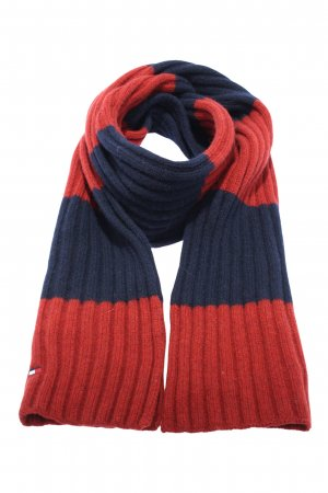 Tommy Hilfiger Strickschal rot-blau Casual-Look