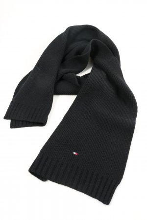 Tommy Hilfiger Écharpe en tricot noir style simple