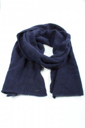 Tommy Hilfiger Knitted Scarf blue cable stitch casual look
