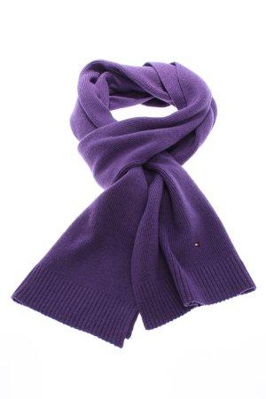 Tommy Hilfiger Écharpe en tricot violet torsades style décontracté