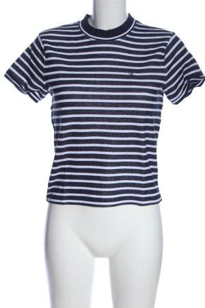 Tommy Hilfiger Strickshirt blau-weiß Allover-Druck Casual-Look