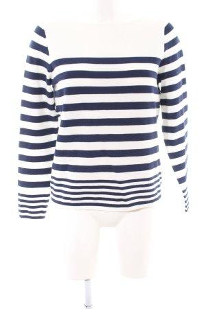 Tommy Hilfiger Strickshirt weiß-blau Streifenmuster Casual-Look
