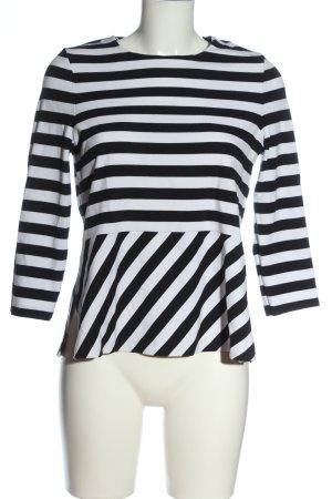 Tommy Hilfiger Strickshirt schwarz-weiß Streifenmuster Casual-Look