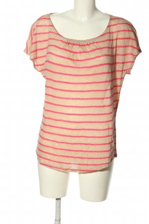 Tommy Hilfiger Strickshirt wollweiß-pink Streifenmuster Casual-Look
