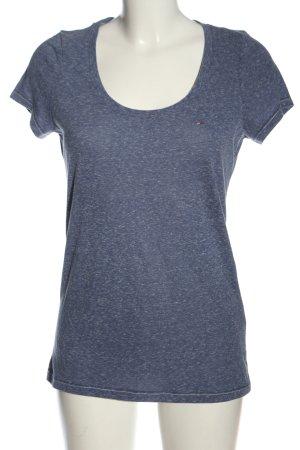 Tommy Hilfiger T-shirts en mailles tricotées bleu moucheté style décontracté