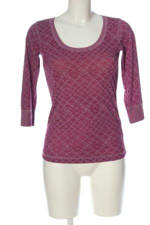 Tommy Hilfiger Strickshirt pink abstraktes Muster Casual-Look
