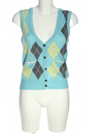 Tommy Hilfiger Knitted Vest blue graphic pattern business style