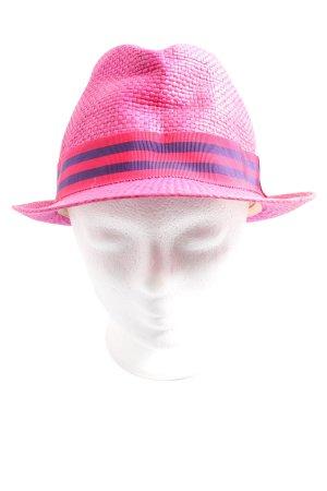 Tommy Hilfiger Hoed van stro roze gestreept patroon casual uitstraling