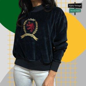 Tommy Hilfiger  Sweater Velvet THW Sweatshirt Pullover   Neu- S