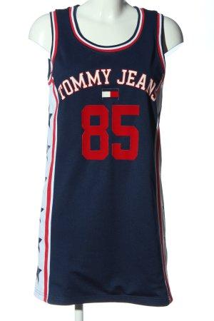 Tommy Hilfiger Sukienka dresowa niebieski-czerwony Wydrukowane logo