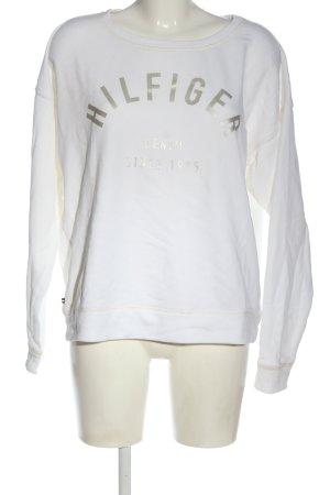 Tommy Hilfiger Bluza dresowa biały Wydrukowane logo W stylu casual