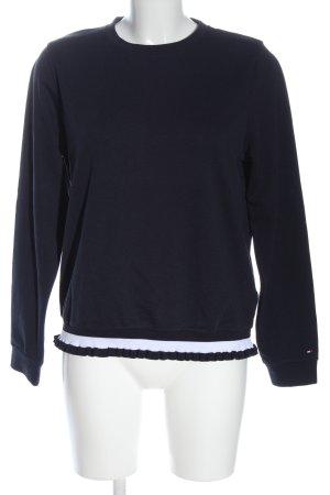 Tommy Hilfiger Sweatshirt schwarz-weiß Streifenmuster Casual-Look
