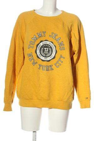 Tommy Hilfiger Sweatshirt hellorange Schriftzug gedruckt Casual-Look