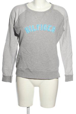 Tommy Hilfiger Sweatshirt hellgrau-blau meliert Casual-Look