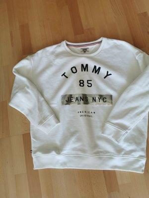 Tommy Hilfiger Suéter blanco-color plata