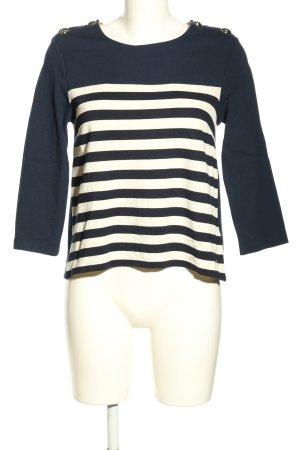 Tommy Hilfiger Sweatshirt blau-weiß Streifenmuster Casual-Look
