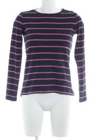 Tommy Hilfiger Sweatshirt dunkelblau-pink Streifenmuster Casual-Look