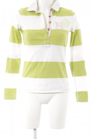 Tommy Hilfiger Sweatshirt blanc-vert gazon motif rayé