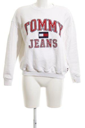 Tommy Hilfiger Sweatshirt weiß platzierter Druck Casual-Look