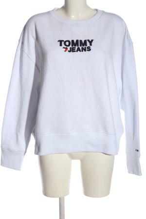 Tommy Hilfiger Sweatshirt weiß Schriftzug gedruckt Casual-Look