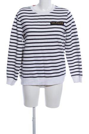 Tommy Hilfiger Sweatshirt weiß-schwarz Streifenmuster Casual-Look