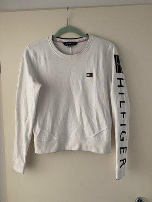 Tommy Hilfiger Sweatshirt blanc-bleu foncé