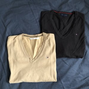Tommy Hilfiger Sweatshirts Pullover Größe M&S braun V-Ausschnitt
