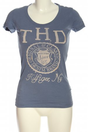 Tommy Hilfiger T-Shirt blau-wollweiß Motivdruck Casual-Look